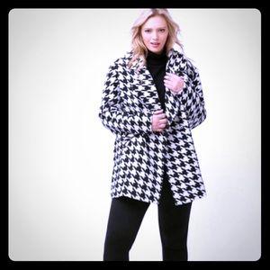 Lane Bryant SIZE 22 Winter Coat Houndstooth